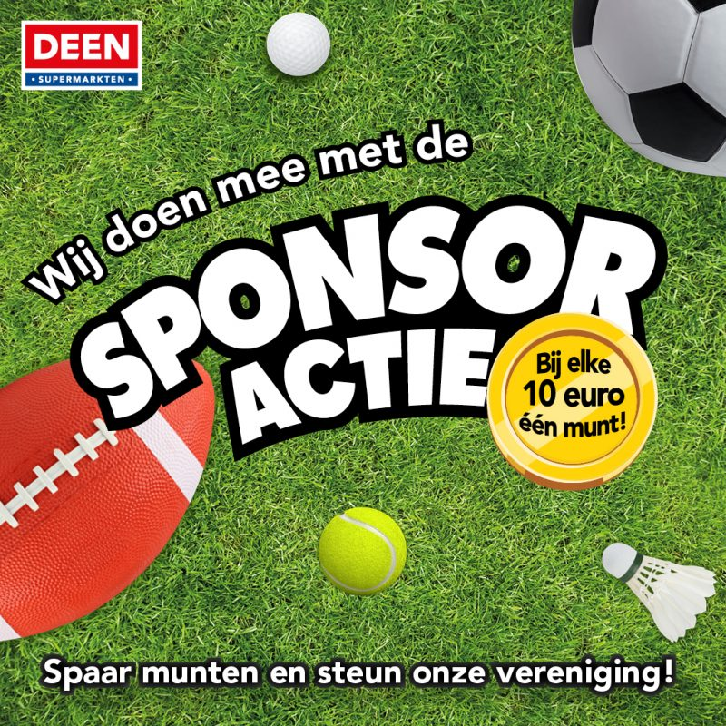 Wij doen mee met de sponsor actie van Deen supermarkten